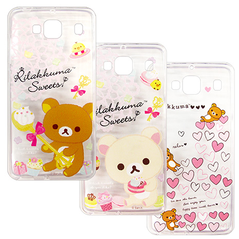 SAN-X授權正版 MIUI 紅米機2 Rilakkuma/拉拉熊/懶懶熊 透明軟式保護套 手機殼(甜蜜款)