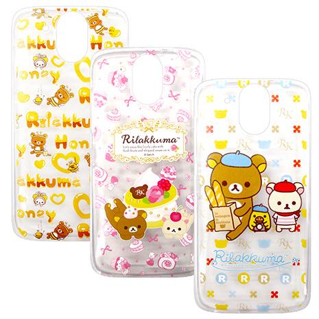 SAN-X授權正版 HTC Desire 526G+ Rilakkuma/拉拉熊/懶懶熊 透明軟式保護套 手機殼(友誼款)蝴蝶結蛋糕