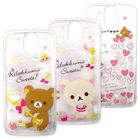SAN-X授權正版 HTC Desire 526G+ Rilakkuma/拉拉熊/懶懶熊 透明軟式保護套 手機殼(甜蜜款)