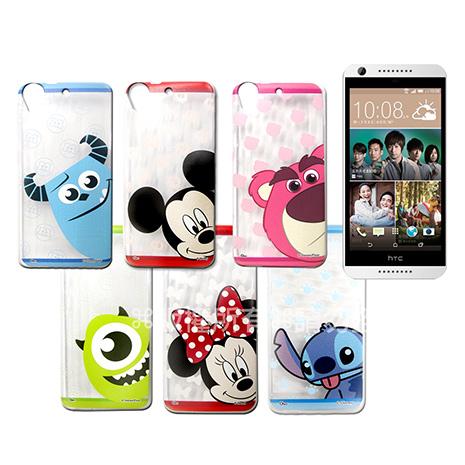 迪士尼授權正版  HTC Desire 650/530/626  大頭娃透明彩繪軟式保護殼 手機殼-手機平板配件-myfone購物