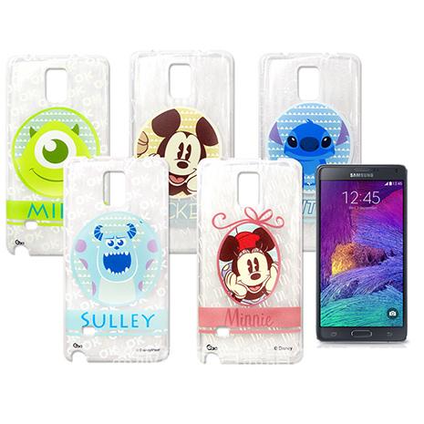 迪士尼授權正版 SAMSUNG Galaxy Note4 / N910 徽章系列透明彩繪軟式保護殼 手機殼徽章系列史迪奇