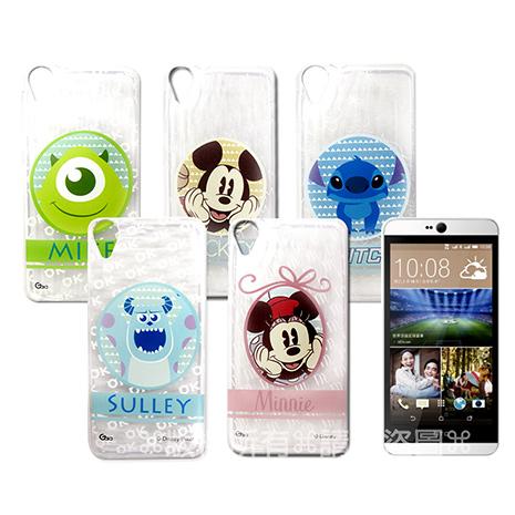 迪士尼授權正版 HTC Desire 820 D820u  徽章系列透明彩繪軟式保護殼 手機殼-手機平板配件-myfone購物