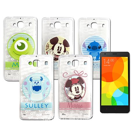 迪士尼授權正版 MIUI 紅米機2/ 紅米2 徽章系列透明彩繪軟式保護殼 手機殼-手機平板配件-myfone購物