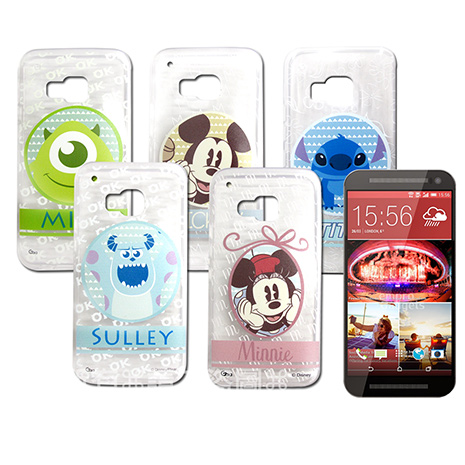 迪士尼授權正版 HTC One S9 / M9 徽章系列透明彩繪軟式保護殼 手機殼徽章系列史迪奇
