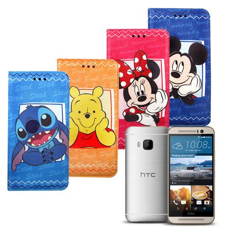 迪士尼Disney 授權正版 HTC One S9/M9 手帳式磁力支架皮套-手機平板配件-myfone購物