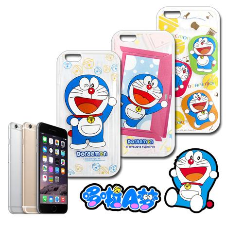 哆啦A夢★正版授權 iPhone 6s+/6 plus 5.5吋 i6+ 歡樂世界彩繪手機軟殼開門A夢
