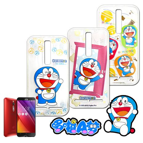 哆啦A夢★正版授權ASUS ZenFone 2 5.5吋 ZE550ML 歡樂世界彩繪手機軟殼多多A夢