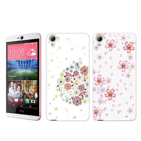 PGS hTC Desire 826 奧地利水晶軟式手機殼 彩鑽殼紫陽花