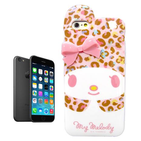 my melody正版授權 iPhone 6s/6 4.7吋 i6 立體蝴蝶結保護殼 背蓋(豹紋美樂蒂)