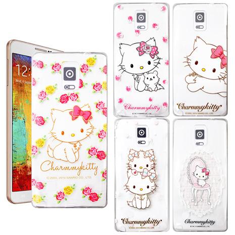 三麗鷗授權正版 Charmmy Kitty 波斯貓恰咪 三星 SAMSUNG Galaxy Note3 N9000 透明軟式保護套 手機殼