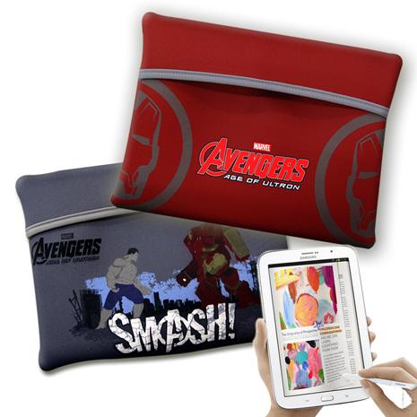 漫威MARVEL 授權正版 復仇者聯盟 平板電腦輕量防震包 太空保護袋(戰鬥款)狂暴浩克毀滅者(鐵灰)
