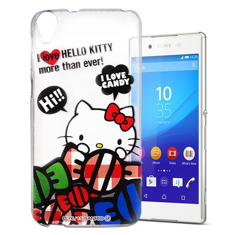 Hello Kitty Sony Xperia Z3+ E6553 透明軟式手機殼(糖果HI)