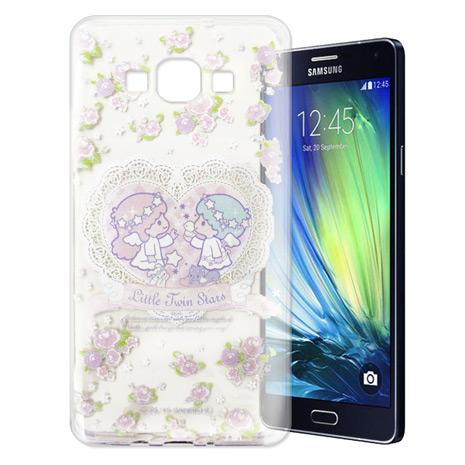 Little Twin Stars KiKiLaLa 三星 SAMSUNG Galaxy A7 透明軟式手機殼(天使雙子星)