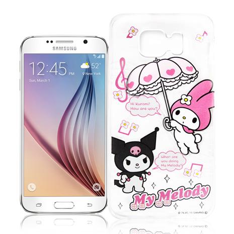 My Melody Kuromi Samsung Galaxy S6 G9200 透明軟式手機殼(Melody旋律)