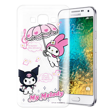 My Melody Kuromi 三星 SAMSUNG Galaxy E7 透明軟式手機殼(Melody旋律)