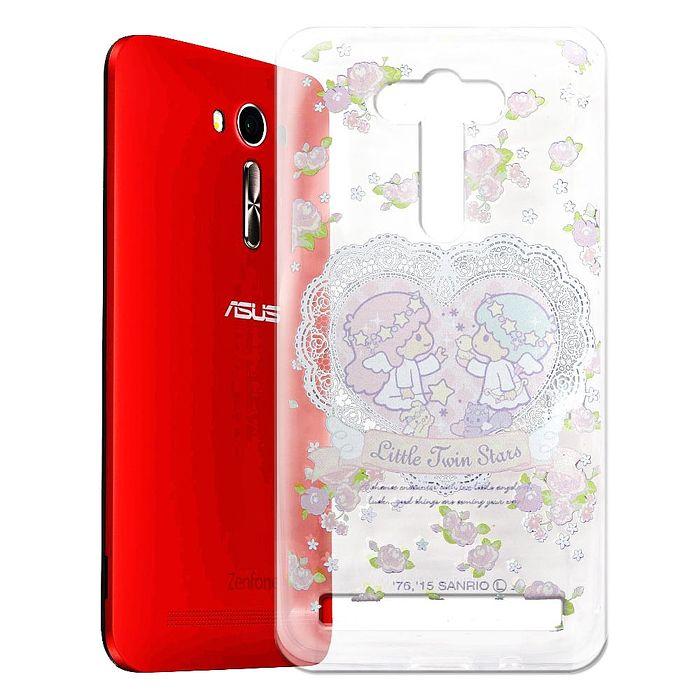 Little Twin Stars KiKiLaLa ASUS Zenfone2 Laser 5吋 透明軟式手機殼(天使雙子星)