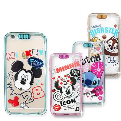 迪士尼授權正版 iPhone 6s+/6 plus 5.5吋 i6+ 來電發光軟式保護套 閃光燈效果手機殼米奇