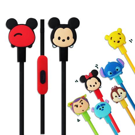 迪士尼可愛玩偶造型 TSUM TSUM 入耳式立體聲耳機麥克風-3C電腦週邊-myfone購物