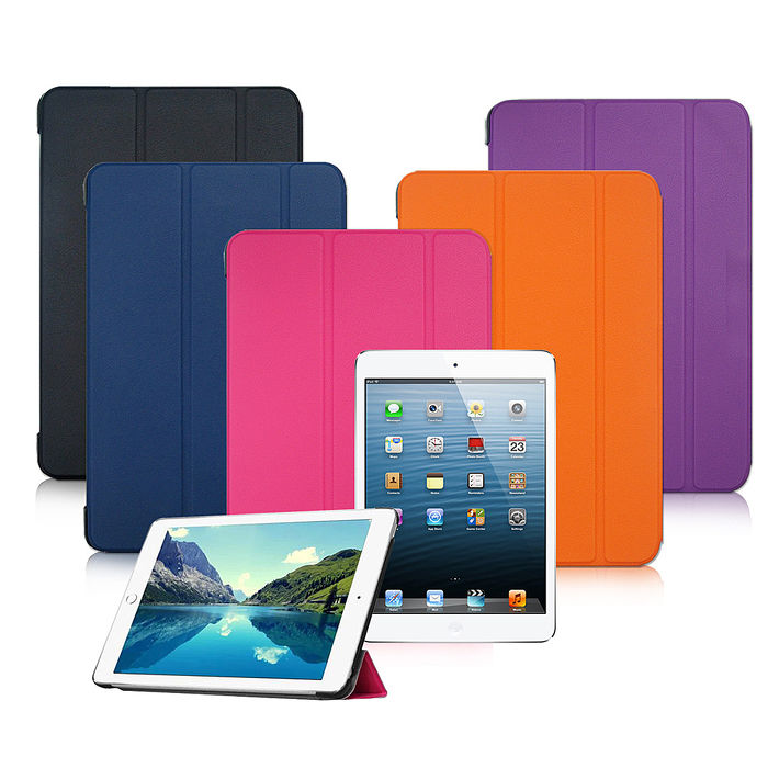 VXTRA Apple iPad Pro 12.9吋 經典皮紋超薄三折保護套 平板皮套紫