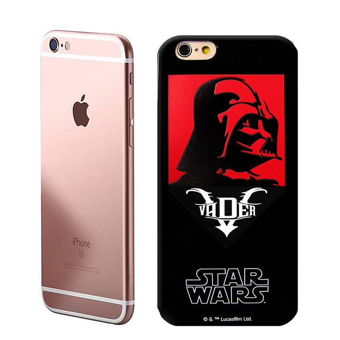 電影授權正版 STAR WARS星際大戰 黑武士 iPhone 6/6s plus 5.5吋 絕黑彩繪手機殼(維德反派)