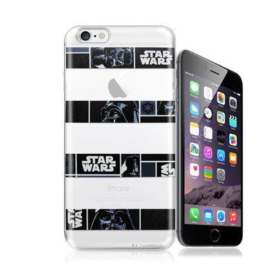 電影授權正版 STAR WARS星際大戰 iPhone 6/6s 4.7吋 彩繪軟式手機殼(橫條黑武士)
