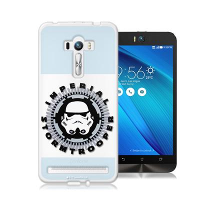 電影授權正版 STAR WARS星際大戰ASUS ZenFone Selfie ZD551KL彩繪軟式手機殼(白兵頭)