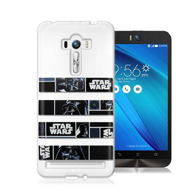 電影授權正版 STAR WARS星際大戰ASUS ZenFone Selfie ZD551KL彩繪軟式手機殼(橫條黑武士)