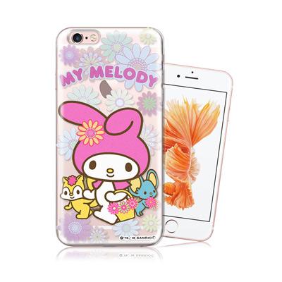 三麗鷗授權正版 My Melody 美樂蒂 iPhone 6/6s i6s 4.7吋 透明軟式手機殼(郊遊)