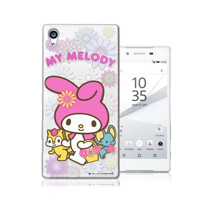 三麗鷗授權正版 My Melody 美樂蒂 Sony Xperia Z5 Premium 透明軟式手機殼(郊遊)