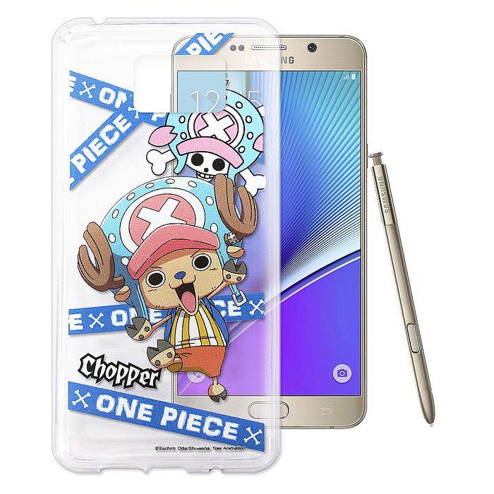 東映授權正版 航海王 Samsung Galaxy Note 5 透明軟式手機殼(封鎖喬巴)