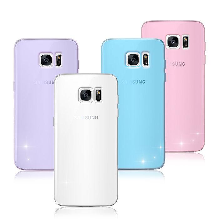【VXTRA】超完美 Samsung Galaxy S7 edge 5.5吋 清透0.5mm隱形保護套微光透紫