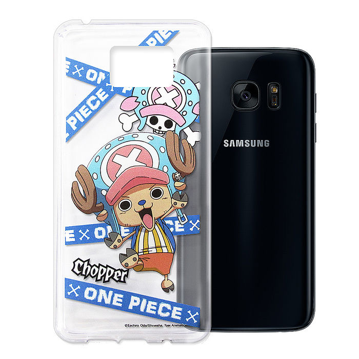 東映授權正版 航海王 Samsung Galaxy S7 edge 透明軟式手機殼(封鎖喬巴)