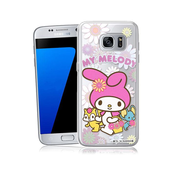 三麗鷗授權正版 My Melody 美樂蒂 Samsung Galaxy S7 透明軟式手機殼(郊遊)