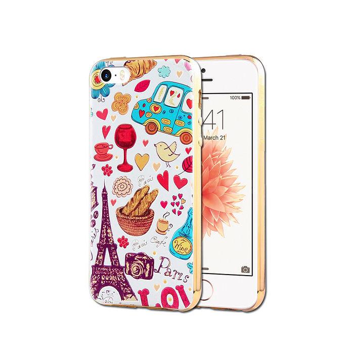 VXTRA iPhone 6s / 6 4.7吋 電鍍浮雕 彩繪軟式手機殼(異國風情)