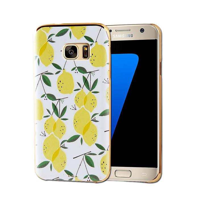 VXTRA Samsung Galaxy S7 edge 5.5吋電鍍浮雕彩繪軟式手機殼(盛夏果實)