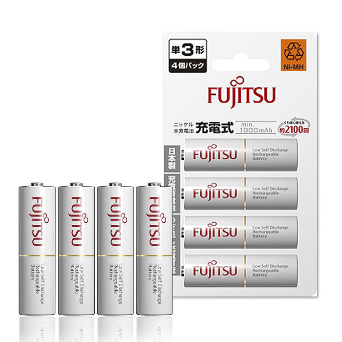Fujitsu 富士通 1900mAh 低自放鎳氫充電電池 HR-3UTC (3號4入)