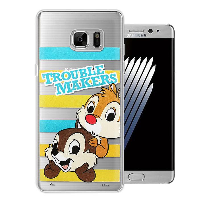 迪士尼授權正版Samsung Galaxy Note5大頭招呼系列軟式手機殼(奇奇&蒂蒂)