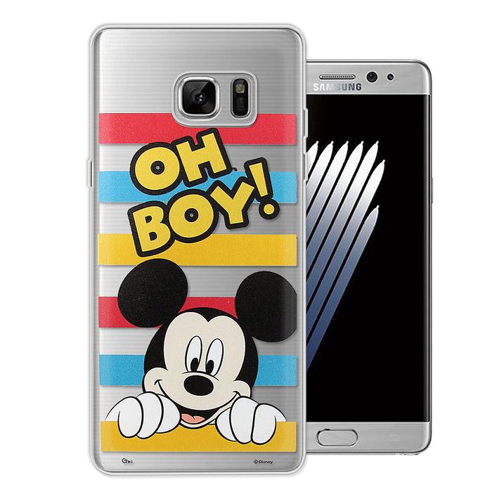 迪士尼授權正版Samsung Galaxy Note5大頭招呼系列軟式手機殼(米奇)