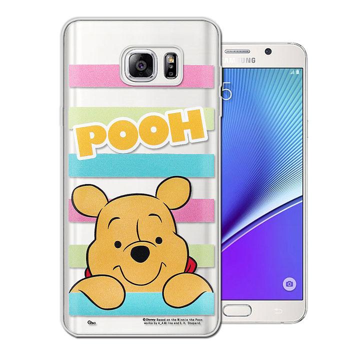 迪士尼授權正版三星Samsung Galaxy Note5大頭招呼系列軟式手機殼(維尼)