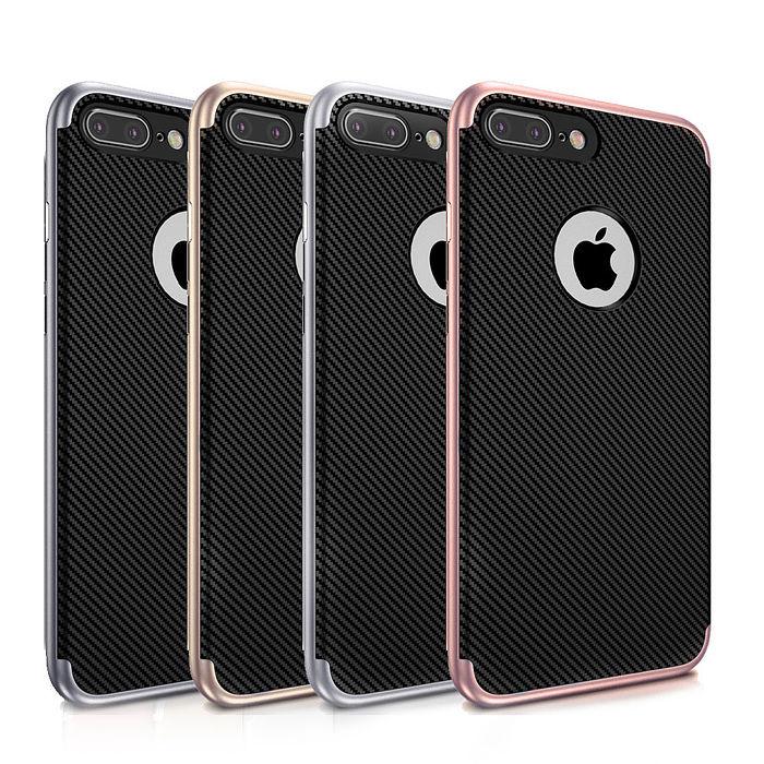VXTRA iPhone 7 Plus 5.5吋 i7+ 防震電鍍雙料軟性手機殼-手機平板配件-myfone購物