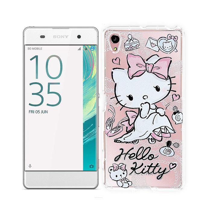 三麗鷗授權正版 Hello Kitty貓 SONY Xperia X / PS10 透明空壓防震殼(成熟)