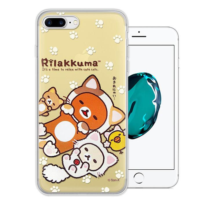 日本授權正版 拉拉熊/Rilakkuma iPhone 7 Plus 5.5吋 變裝系列彩繪手機殼(狐狸黃)