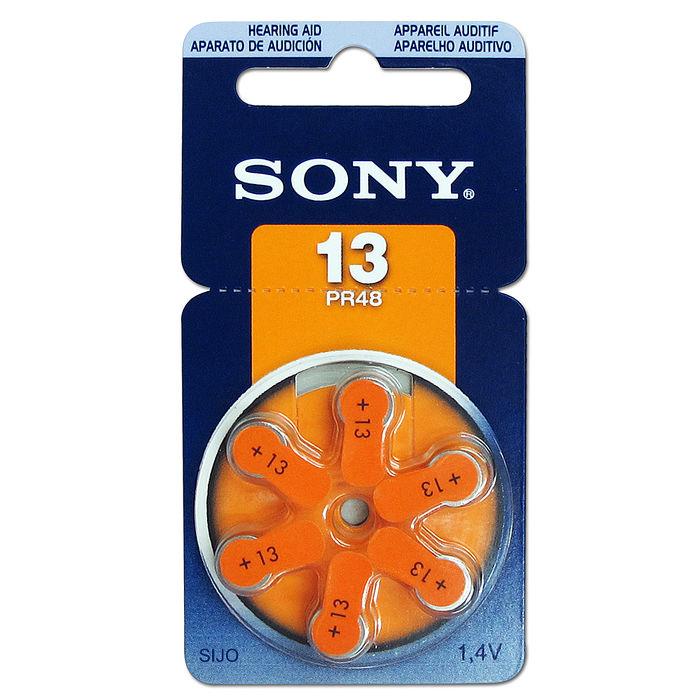 【品質最優】SONY PR48/S13/A13/13 空氣助聽 器電池(1卡6入)