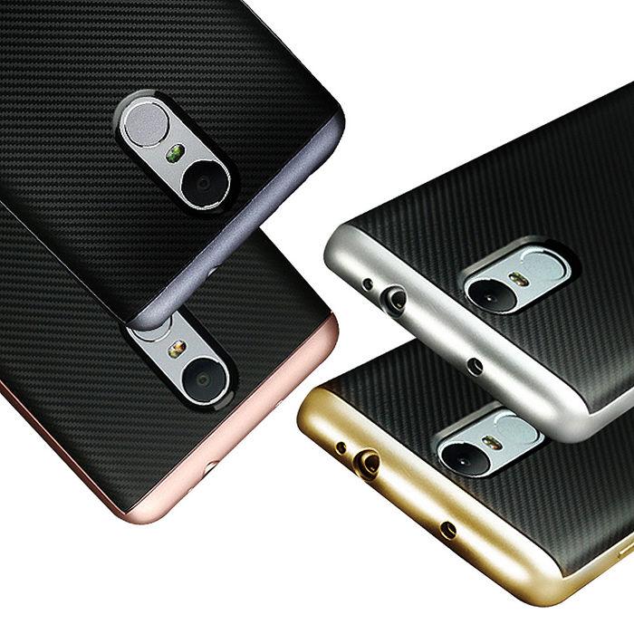 VXTRA Xiaomi 紅米Note 4X 防震電鍍雙料軟性手機殼太空銀