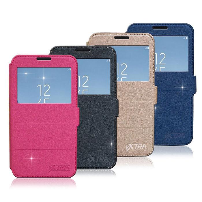 VXTRA 三星 Samsung Galaxy J7 Pro J730 經典金莎紋 商務視窗皮套尊爵紳黑