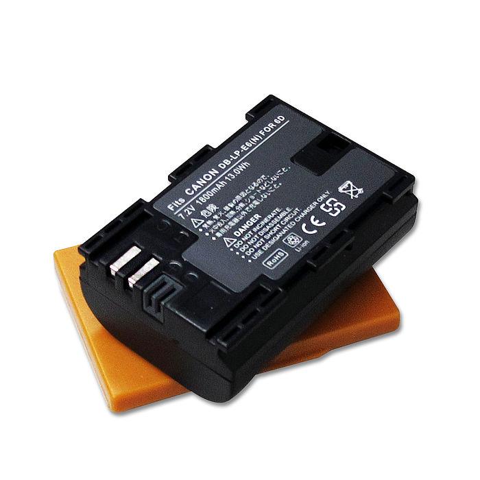 [副廠] WELLY Canon LP-E6 / LPE6N 高容量防爆相機鋰電池 EOS 6D、EOS 70D 60D