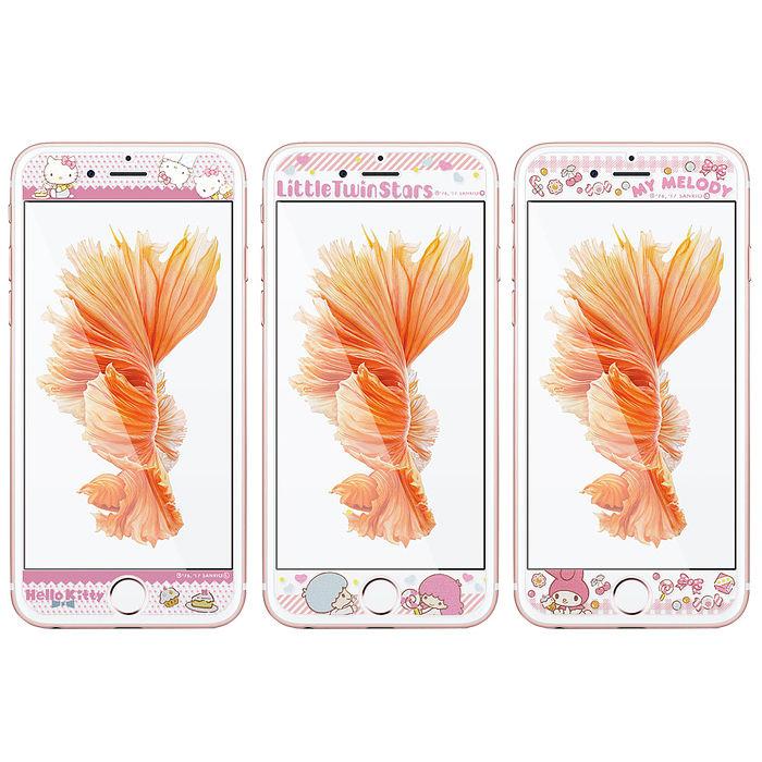 三麗鷗 授權正版 iPhone 6s / i7 / i8 (4.7吋) 全隱形玻璃保護貼(糖果雙子星/糖果KITTY/糖果美樂蒂)