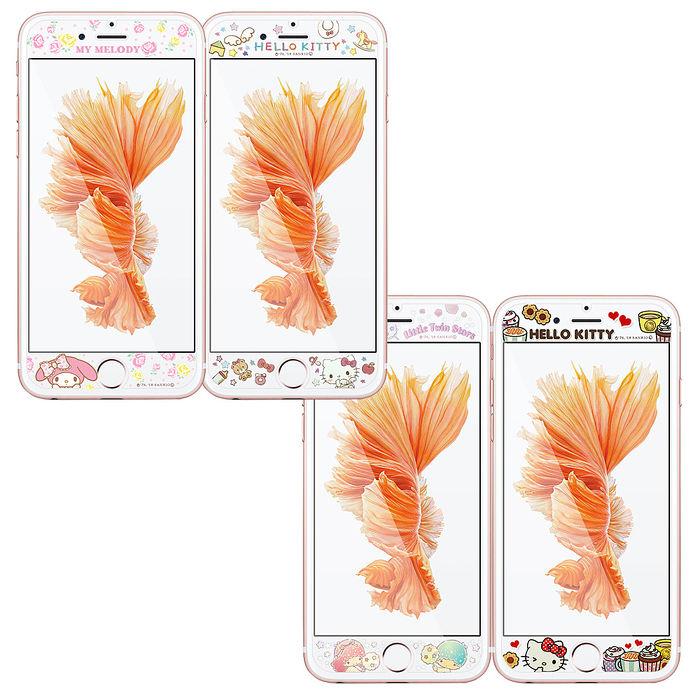 三麗鷗 授權正版 iPhone 8/i7/i6 4.7吋 全隱形玻璃保護貼(瑪芬凱蒂/熊熊凱蒂/碎花美樂蒂/棉花糖雙子星)