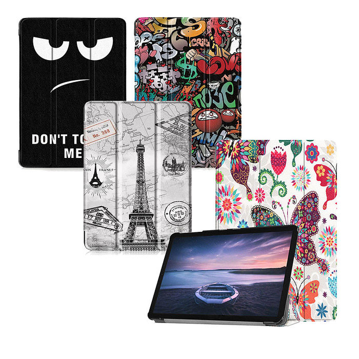 VXTRA 三星 Samsung Galaxy Tab A 10.5吋 T595/T590 文創彩繪 隱形磁力皮套 平板皮套