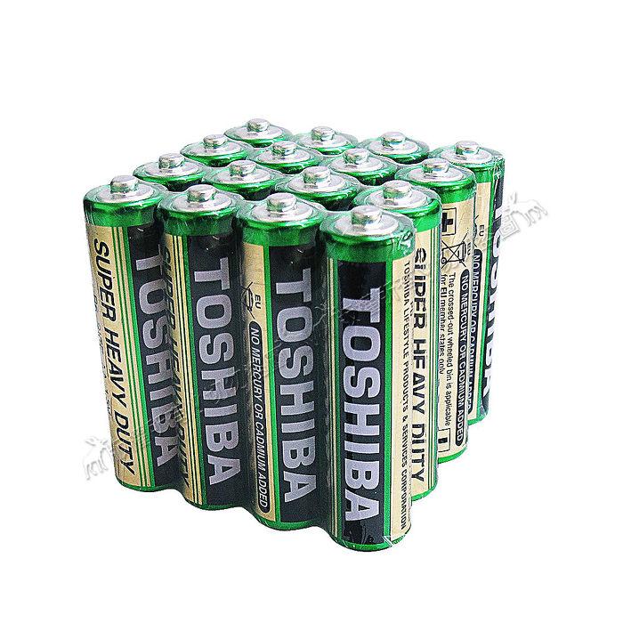 東芝TOSHIBA 環保碳鋅電池 (4號16顆入) R03UG